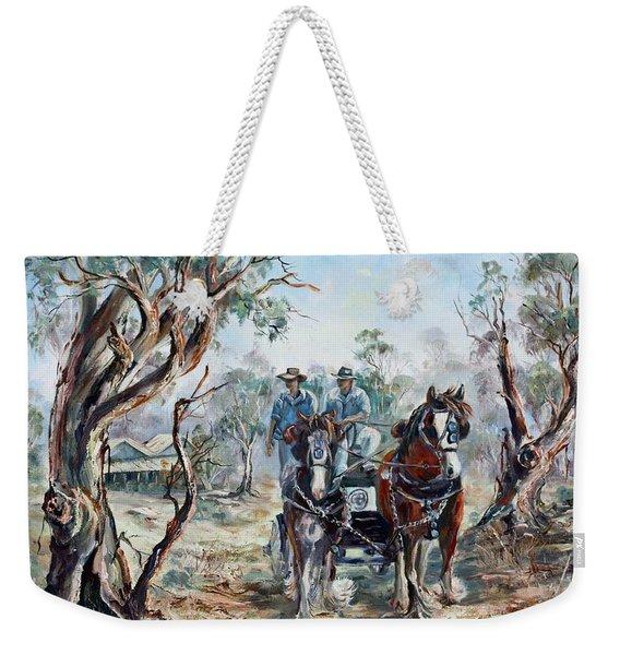 Clydesdales And Cart Weekender Tote Bag