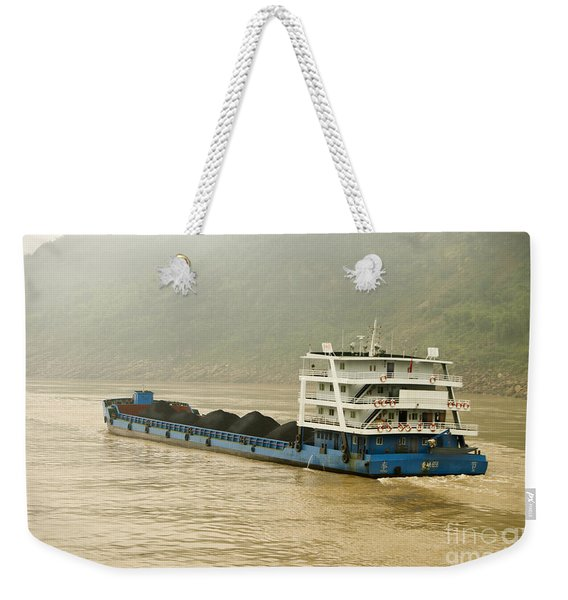 Coal Freighter On The Yangtze River Weekender Tote Bag