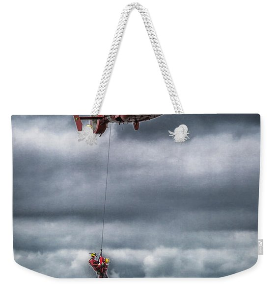 Coast Guard Rescue Operation  Weekender Tote Bag
