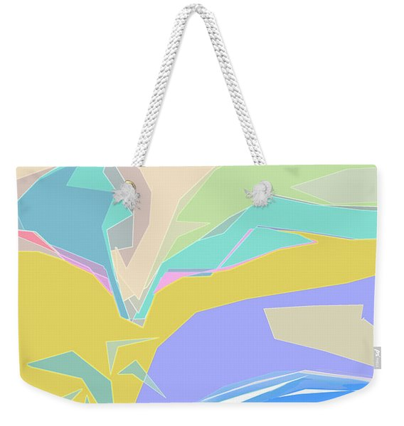 Weekender Tote Bag featuring the digital art Coast Of Azure by Gina Harrison
