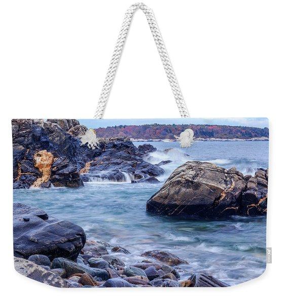 Coast Of Maine In Autumn Weekender Tote Bag