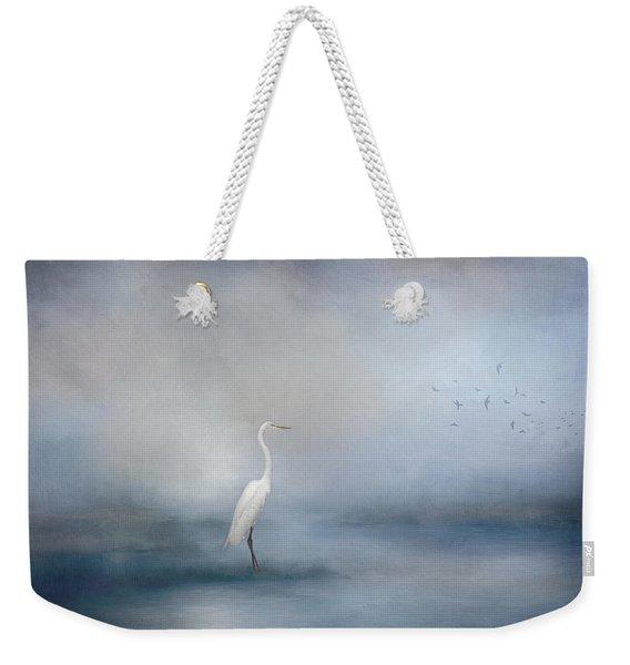 Coastal Egret Weekender Tote Bag