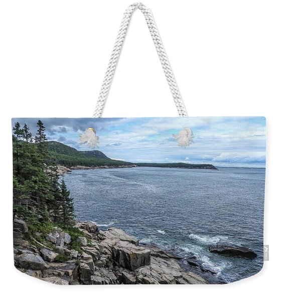 Coastal Landscape From Ocean Path Trail, Acadia National Park Weekender Tote Bag