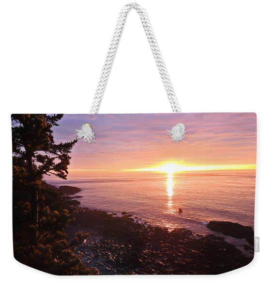 Coastal Sunrise Weekender Tote Bag