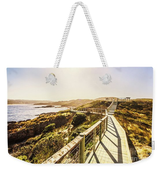 Coastal Way Weekender Tote Bag