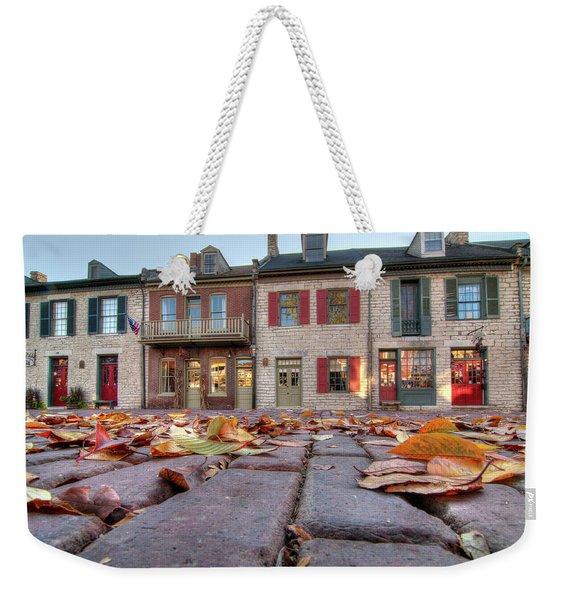 Cobblestone And Leaves Weekender Tote Bag