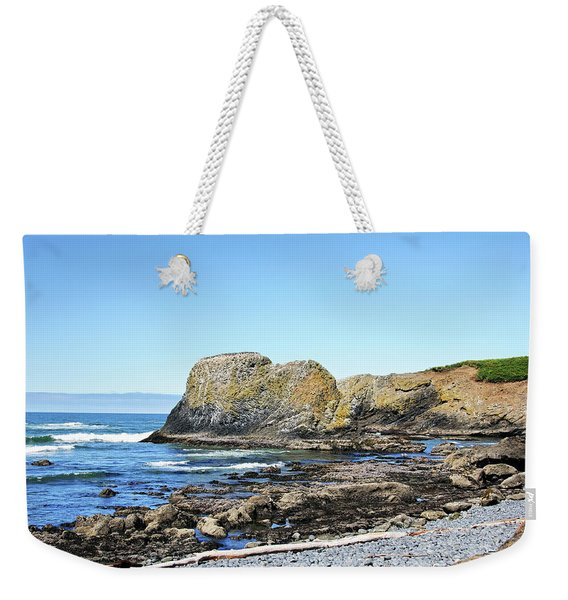 Cobblestone Beach Weekender Tote Bag