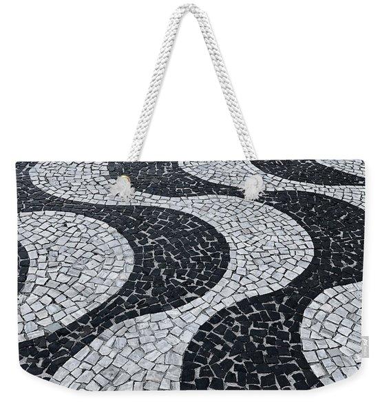 Cobblestone Waves Weekender Tote Bag