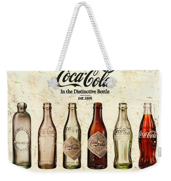 Coca-cola Bottle Evolution Vintage Sign Weekender Tote Bag