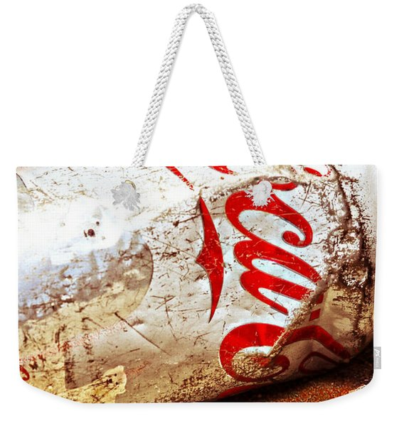 Weekender Tote Bag featuring the photograph Coca Cola On The Rocks By Mike-hope by Michael Hope