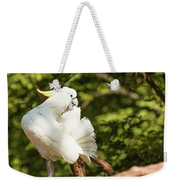 Cockatoo Preaning Weekender Tote Bag