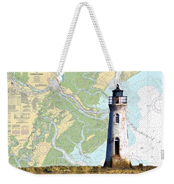 Cockspur On Navigation Chart Weekender Tote Bag
