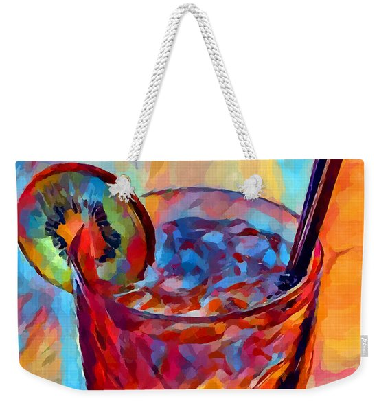 Cocktail Watercolor Weekender Tote Bag