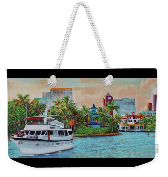 Cocktails On The New River Weekender Tote Bag