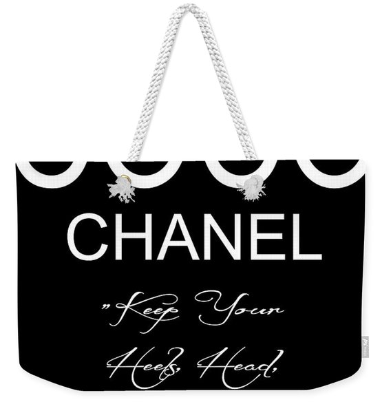 Coco Chanel Quote 2 Weekender Tote Bag