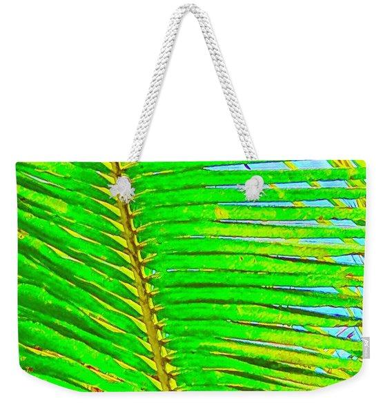 Coconut Palm Leaf Aloha Weekender Tote Bag