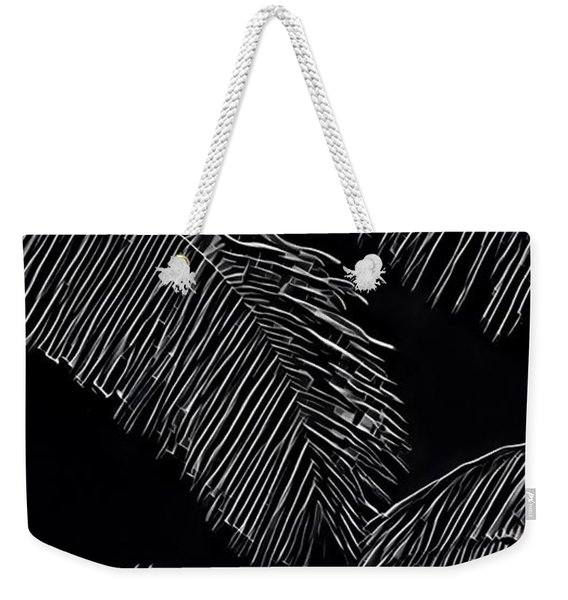 Coconut Palms In Black And White Weekender Tote Bag