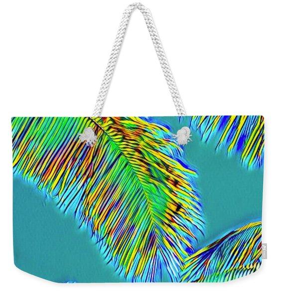 Coconut Palms Psychedelic Weekender Tote Bag