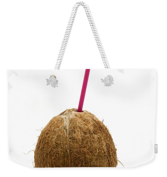 Coconut With A Straw Weekender Tote Bag