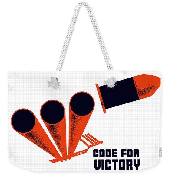 Code For Victory - Ww2 Weekender Tote Bag