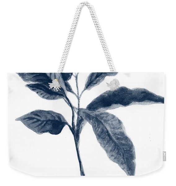 Coffe Plant Indigo Weekender Tote Bag