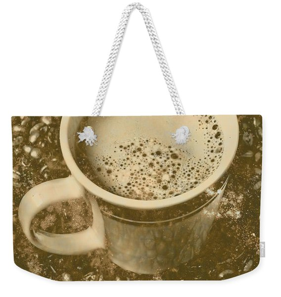Coffee And Nostalgia Weekender Tote Bag