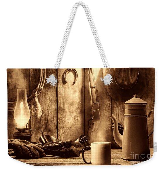 Coffee At The Cabin Weekender Tote Bag