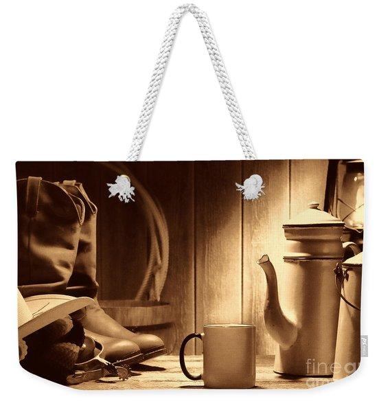 Coffee At The Ranch Weekender Tote Bag