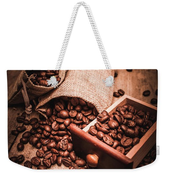 Coffee Bean Art Weekender Tote Bag