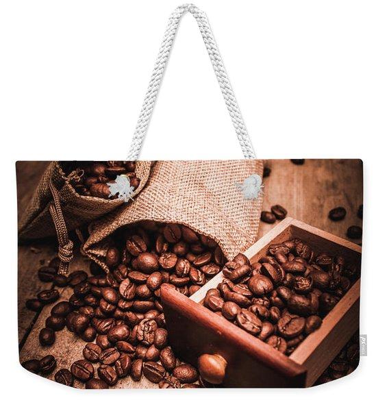 Coffee Bean Art Weekender Tote Bag