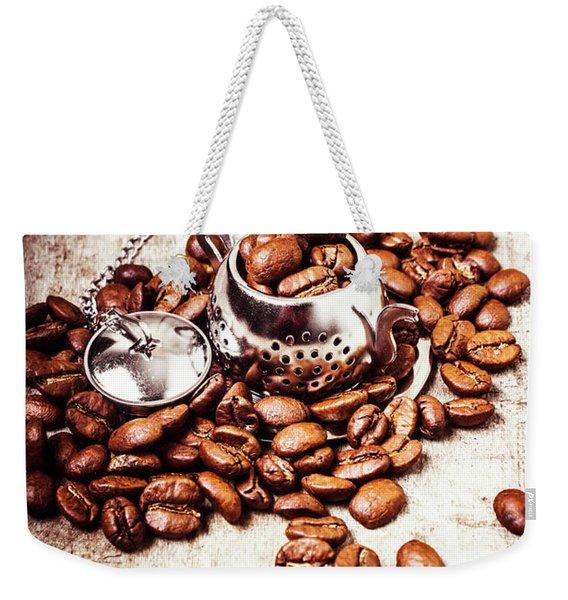 Coffee Break At The Tea House Weekender Tote Bag