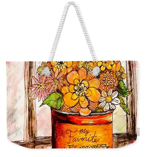 Coffee Can Bouquet  Weekender Tote Bag