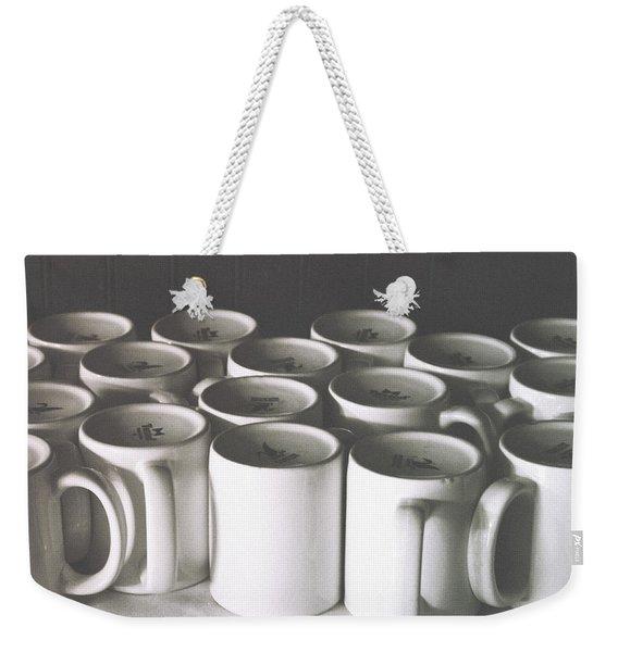 Coffee Cups- By Linda Woods Weekender Tote Bag