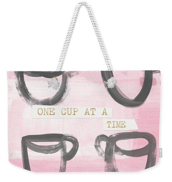 Coffee Cups Pink- Art By Linda Woods Weekender Tote Bag