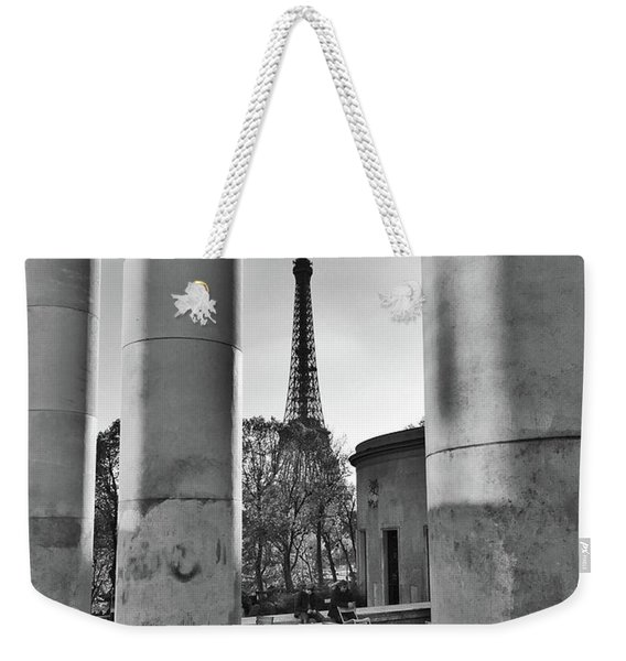 Weekender Tote Bag featuring the photograph Coffee In Paris by Frank DiMarco
