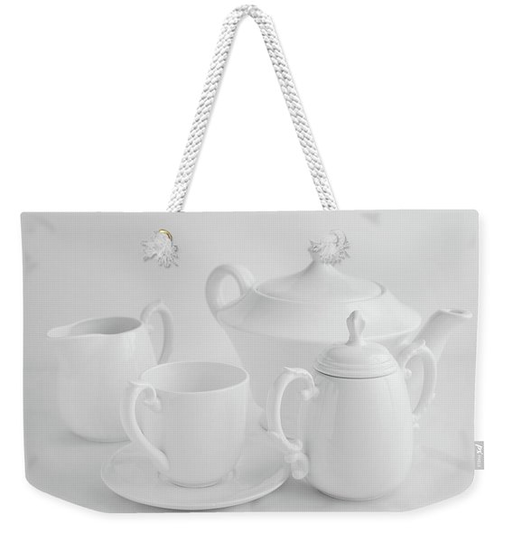 Coffee In White Weekender Tote Bag