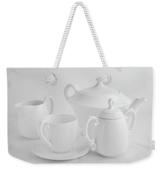 Coffee In White Weekender Tote Bag