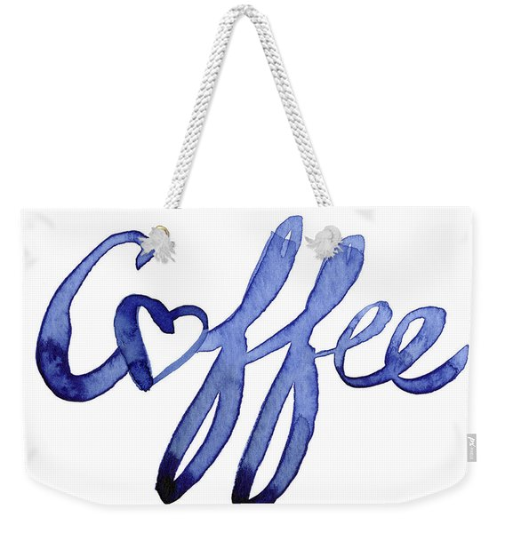 Coffee Love Typography Weekender Tote Bag