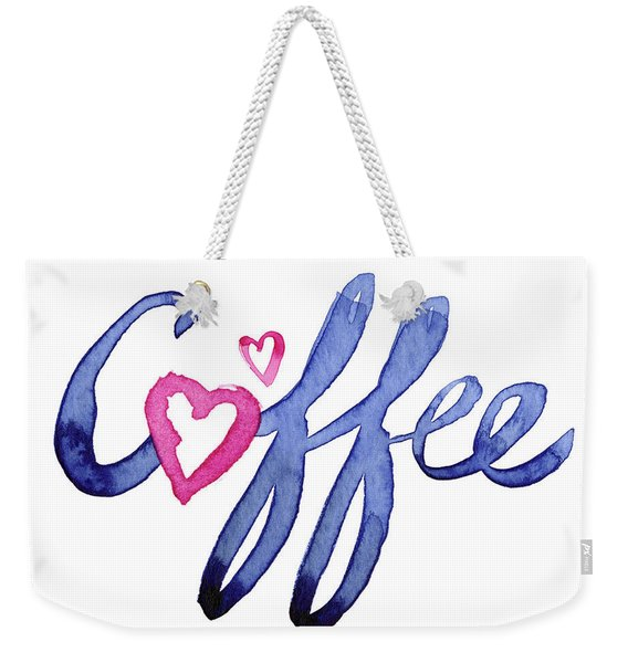 Coffee Lover Typography Weekender Tote Bag