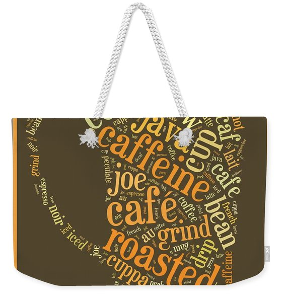 Coffee Lovers Word Cloud Weekender Tote Bag
