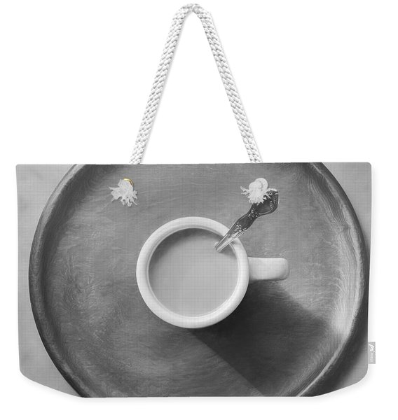 Coffee On A Wooden Tray Weekender Tote Bag