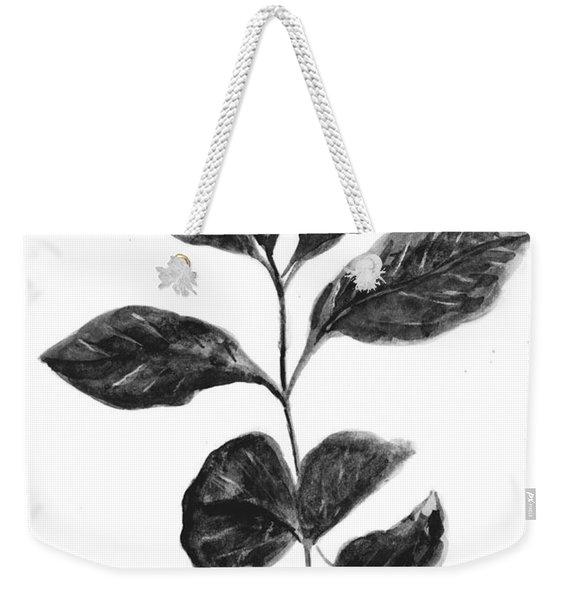 Coffee Plant Black  Weekender Tote Bag