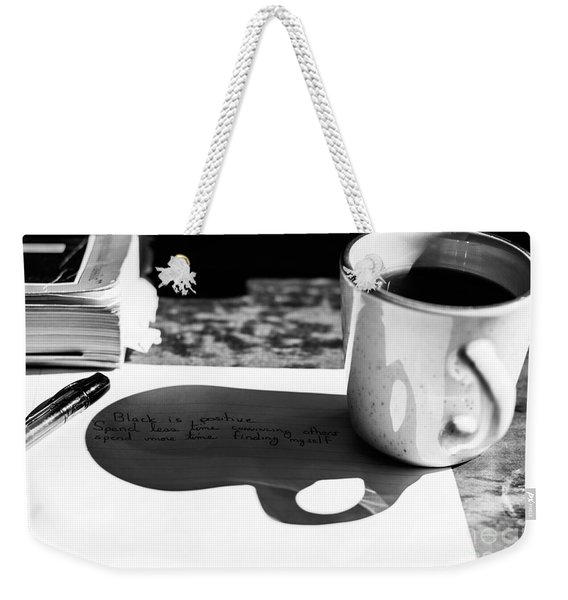 Coffee Poetry Weekender Tote Bag