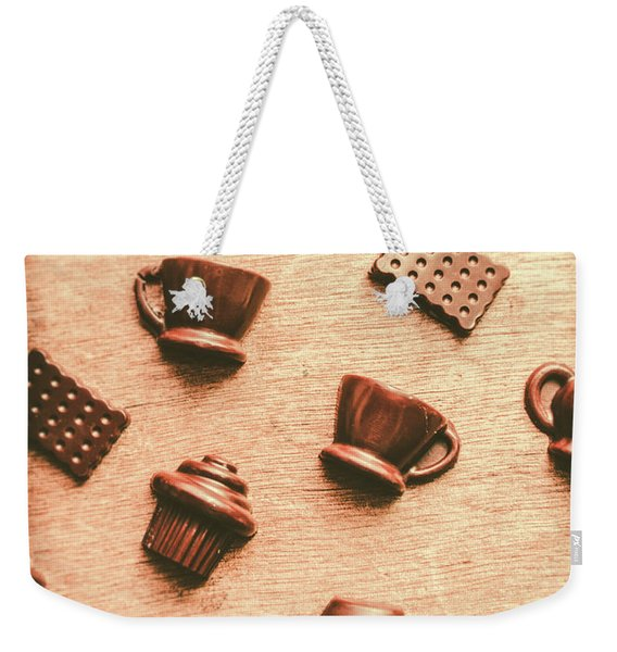 Coffee Shop Iconography  Weekender Tote Bag