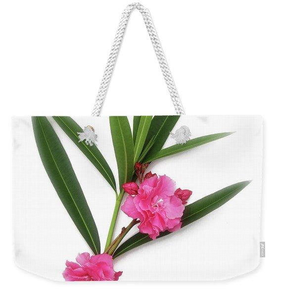 Cog  Nerium Oleander Splendens Giganteum Weekender Tote Bag
