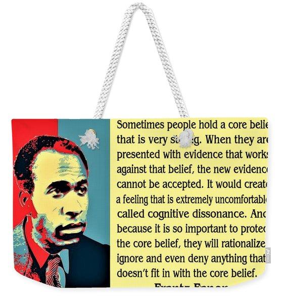Cognitive Dissonance Frantz Fanon Weekender Tote Bag