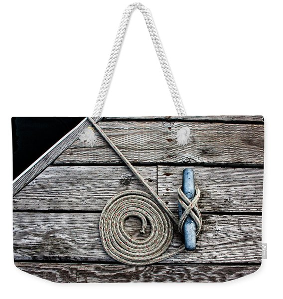 Coiled Mooring Line And Cleat Weekender Tote Bag