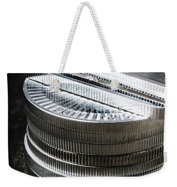 Coins Of Silver Stacking Weekender Tote Bag