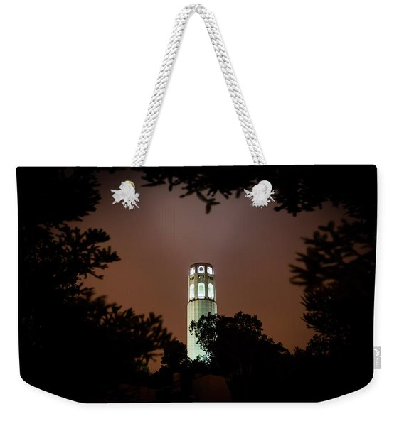 Coit Tower Through The Trees Weekender Tote Bag