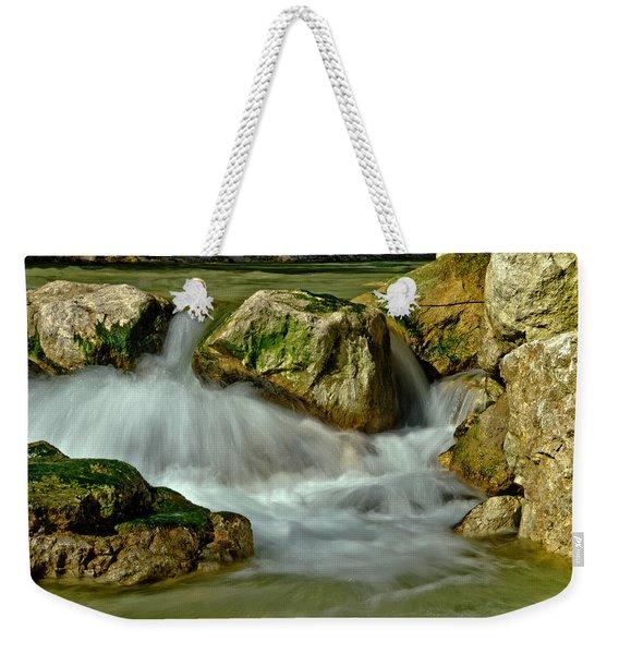 Cold Milky Creek Weekender Tote Bag